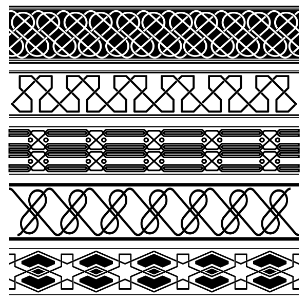 Vintage Ancient Border Vector Free