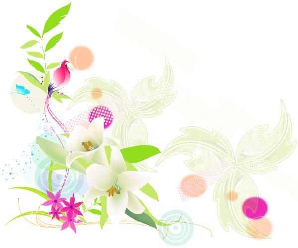 Vector Colorful Floral Design Download Free Vector Art