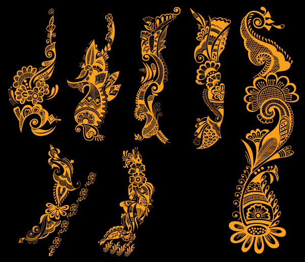 Free Indian Henna Tattoo Designs Vector