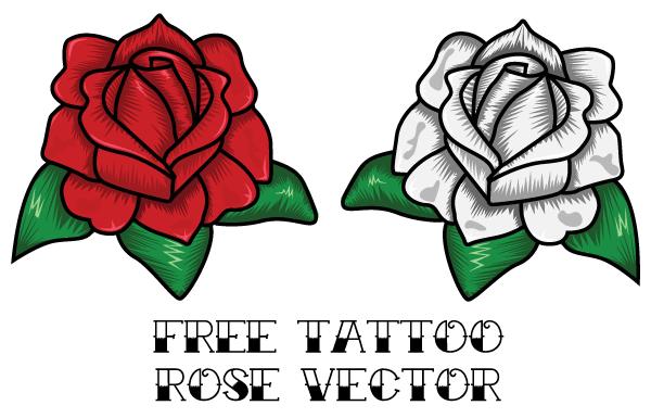 vector rose tattoo design download free vector art free vectors. Black Bedroom Furniture Sets. Home Design Ideas