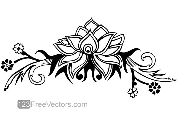 Hand Drawn Flower Design Vector Download Free Art