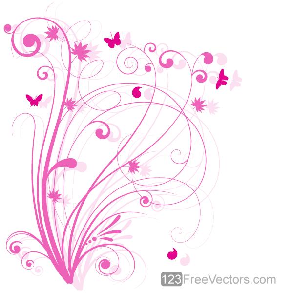 vector floral design 5 pink floral background download free