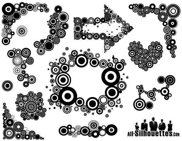 Retro Art Retro Circles Free Vector Art