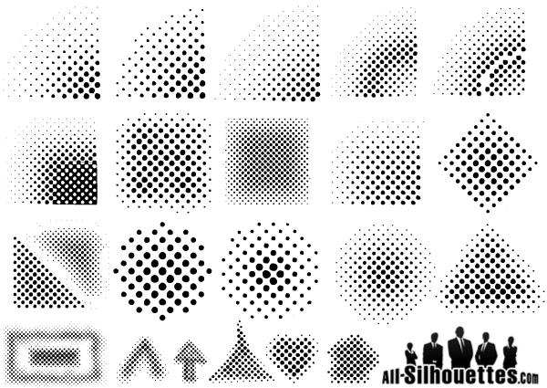 Line Art Vs Halftone : Halftones vector elements download free art