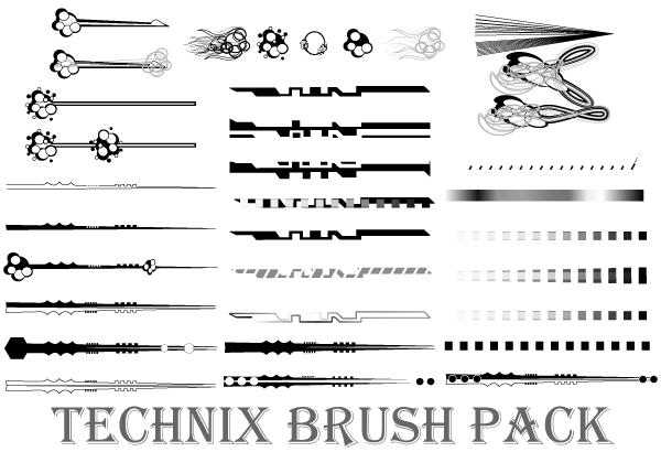 Technix Illustrator Brushes Pack | Download Free Vector Art | Free ...