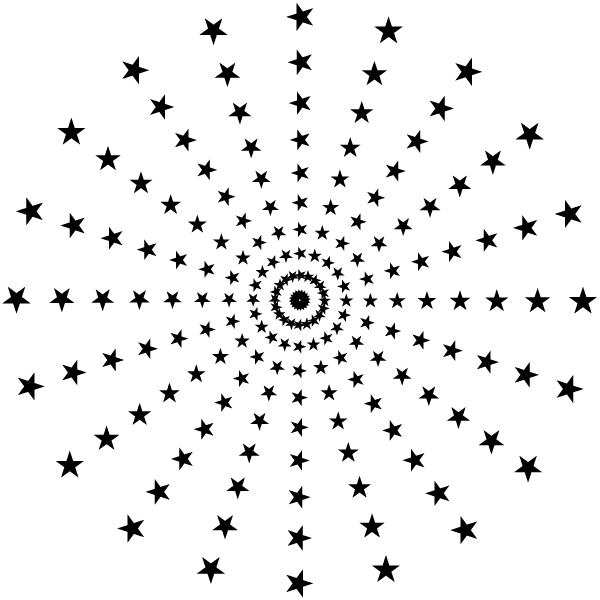 Vector Halftone Star Patterns Illustrator