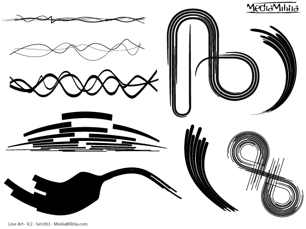 Line Art Vector : Line art design elements vector set download free