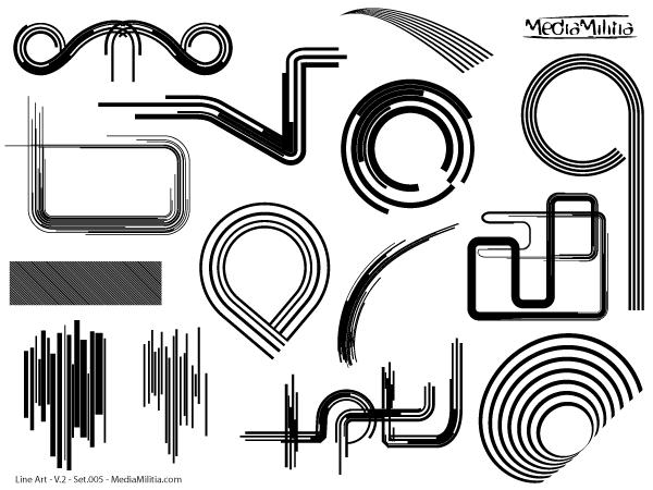 Line Art Design Free Download : Line art design elements vector set download free