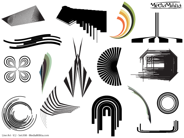 Line Art Designs Free Download : Line art design elements vector set download free