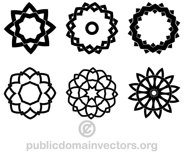Elements Of Design Shape : Decorative geometric design elements shapes download