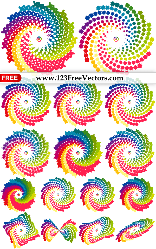 how to make rainbow coloured circle illustrator