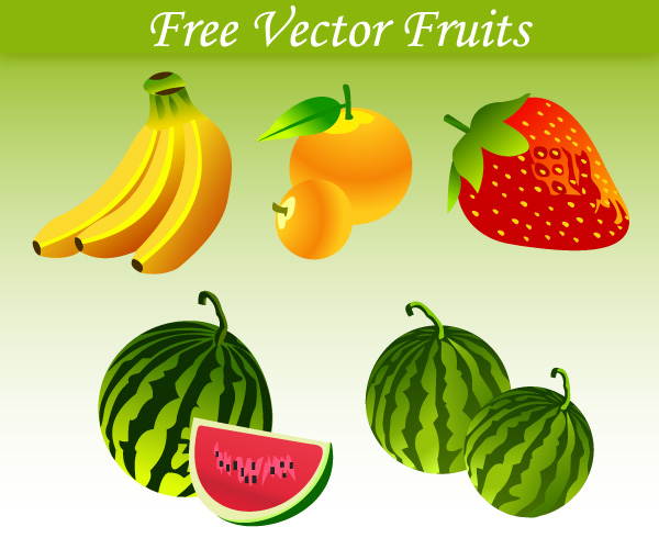 Free Vector Fruits Download Free Vector Art Free Vectors