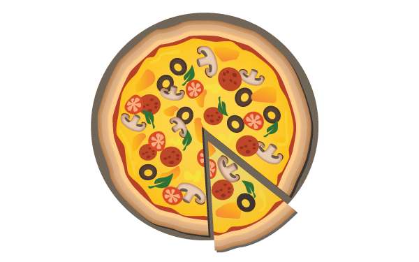 Free Pizza Vector Image