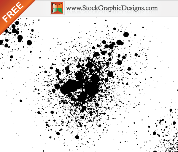 Paint Splatter Free Vector Illustration | Download Free ...