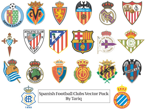 Football club logos with names