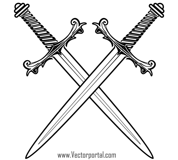 Crossed Swords Clip Art | Download Free Vector Art | Free-Vectors