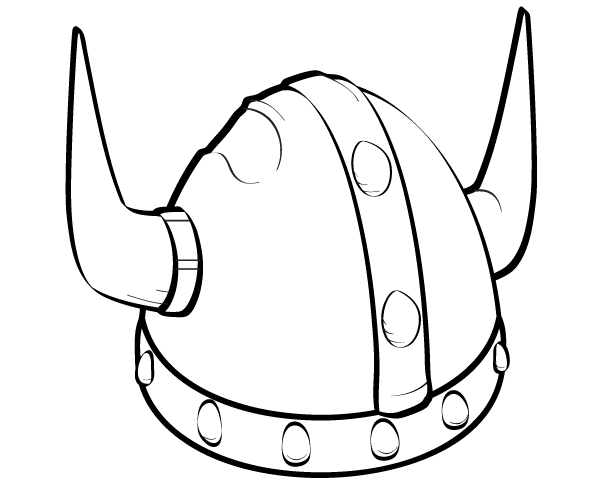 how to draw a viking head