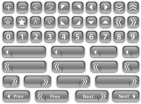 Vector Glass Buttons