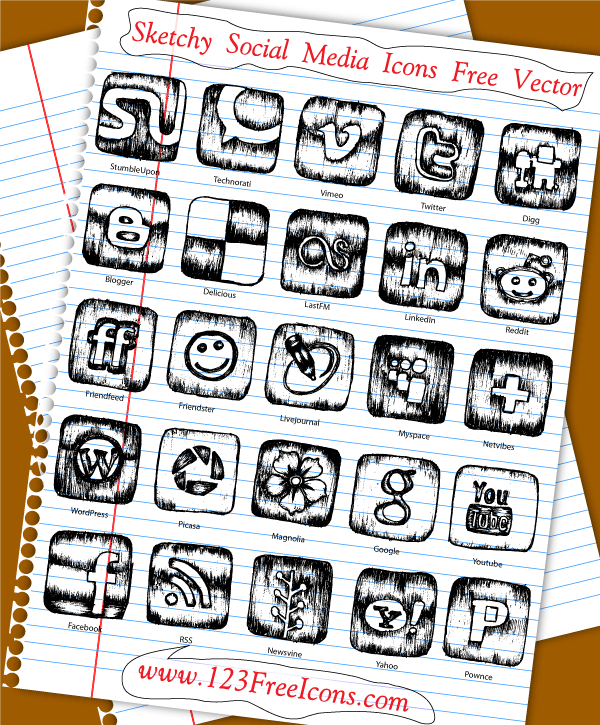Social Media Vector Icons Free Download