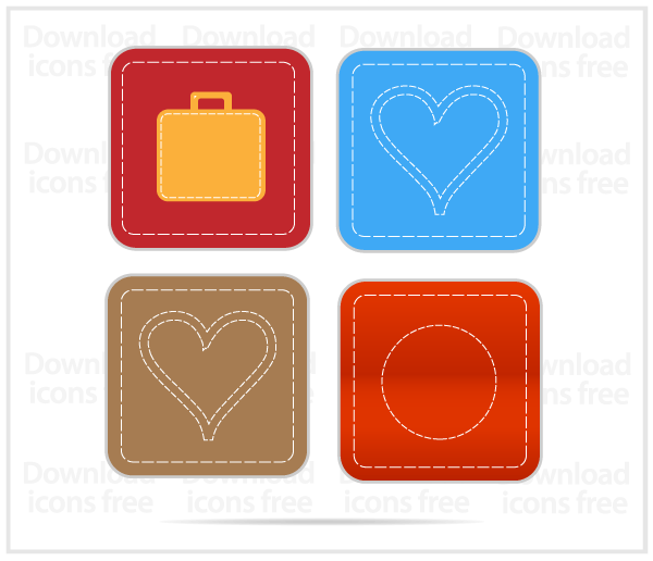 Free Vector Handmade Social Media Icons