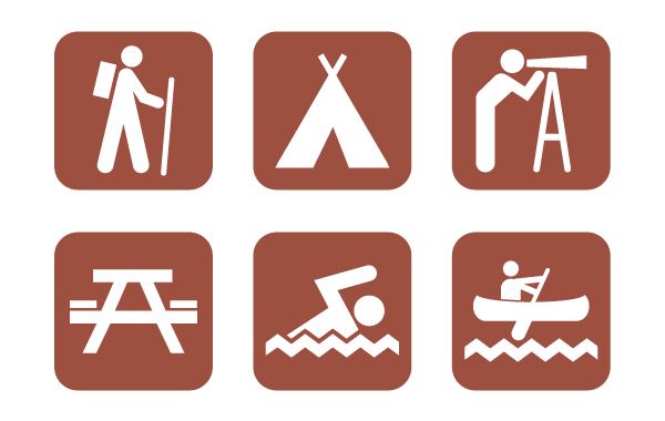 Superb image with free printable camping signs