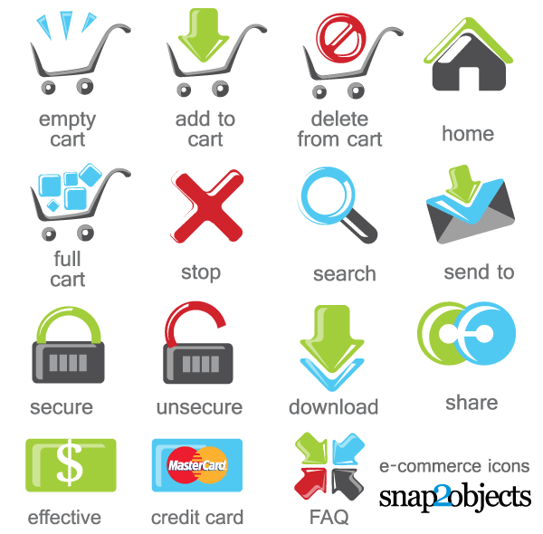 Free E-Commerce Icons Vector