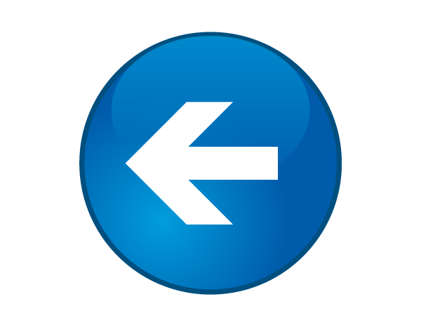 Glossy Round Button with Arrow
