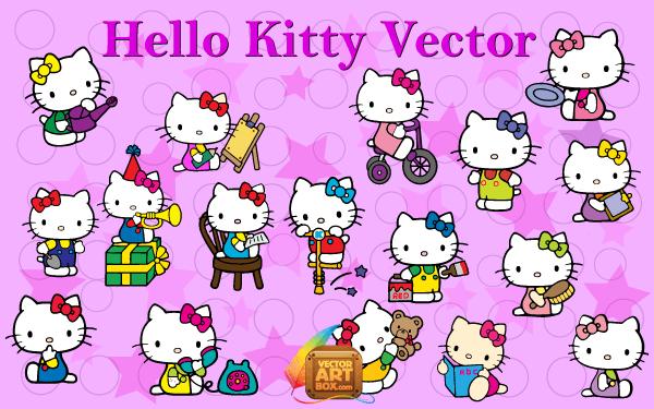 Vector Art Hello Kitty | Download Free Vector Art | Free-Vectors