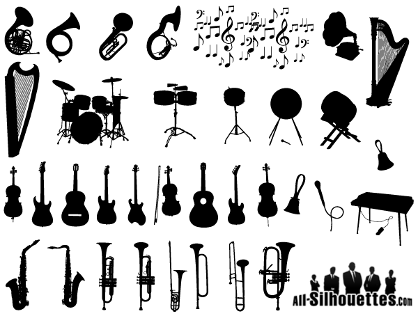 Watercolor Copper Brass Band White moreover Music Notes Clipart Black And White additionally Saxophone besides 17767818 moreover Retro Microphone Vector Sign. on vintage musical instrument illustration