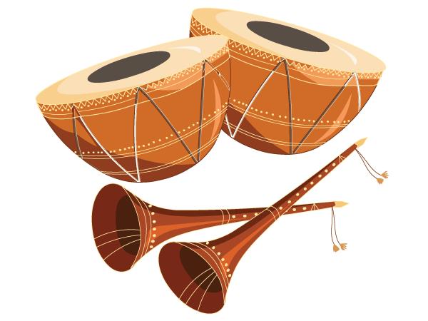 Free Tabla With Shehnai Vector Graphics Download Free