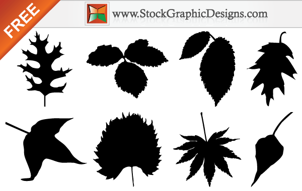 Free Autumn Leaf Silhouettes Vector