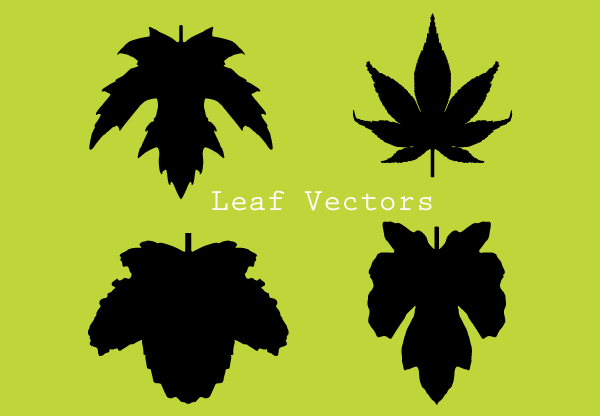 Autumn Leaf Silhouette Clip Art
