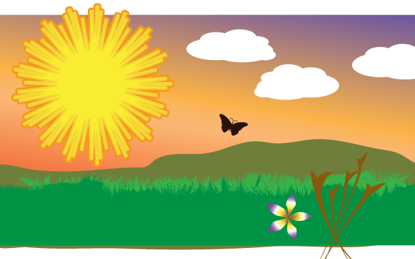 Vector Clip Art Sunny Field | Download Free Vector Art ...