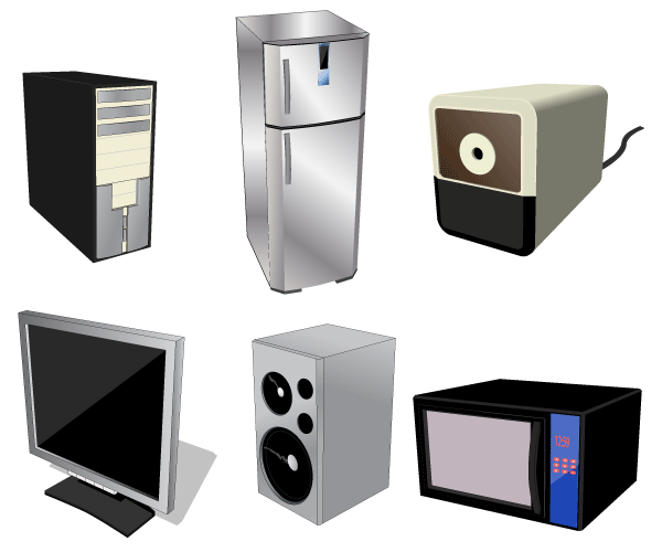 Home electrical appliances free vector download free for Household appliances design