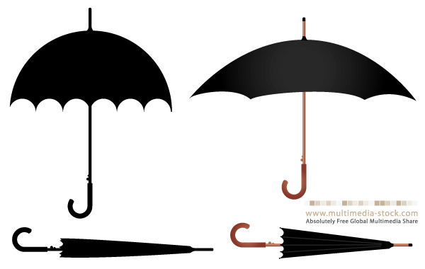 Umbrella Free Vector Set