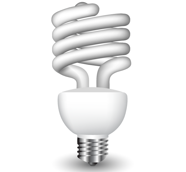 vector energy saving fluorescent light bulb download free vector art. Black Bedroom Furniture Sets. Home Design Ideas