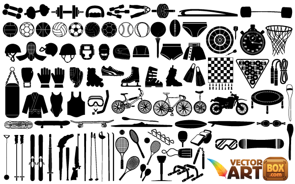 Free Sports Equipment Vector Art