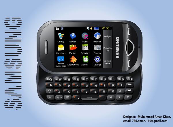 Samsung B3410 Mobile Phone Illustration