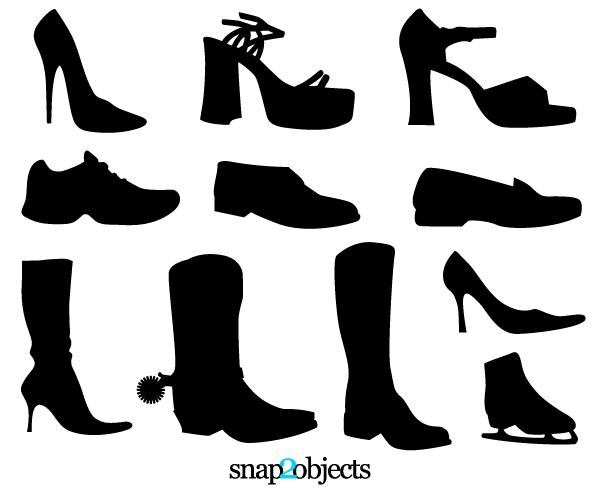 Vector Shoe Silhouettes Download Free Vector Art Free