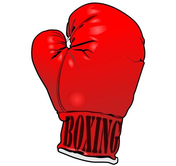 Vector Red Boxing Gloves