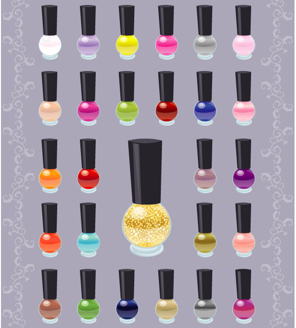 nail polish clipart vector free - photo #11