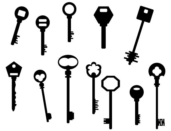 Vector Art Key Silhouettes