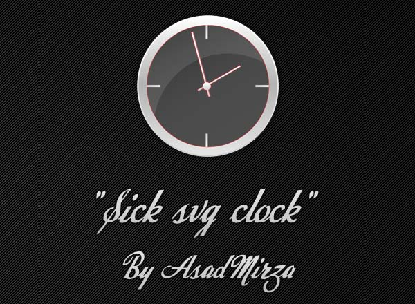 Vector Sick Svg Analog Clock