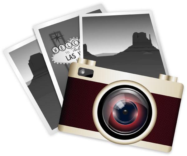 Vector Clip Art Vintage Camera | Download Free Vector Art ...