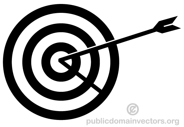 Vector Arrow Hitting in the Target   Download Free Vector ...