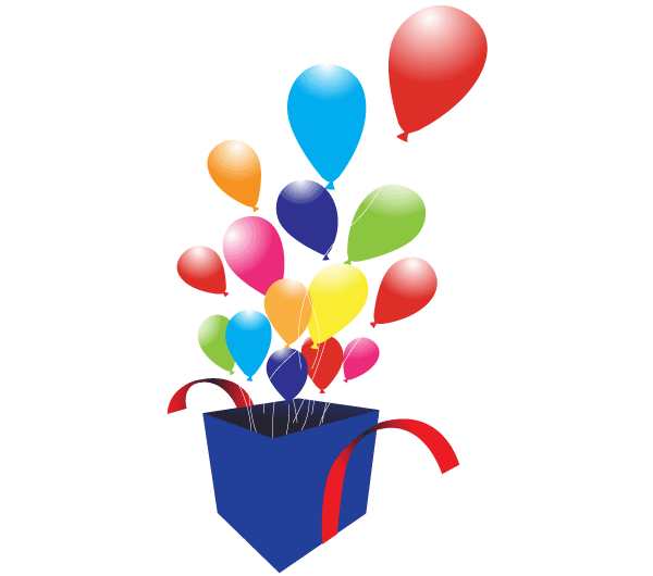 Box With Balloons Vector Graphics Download Free