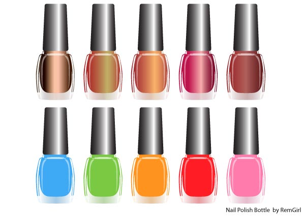 nail polish clipart vector free - photo #6