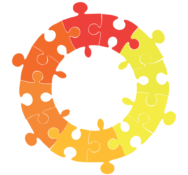 Circle Puzzle Illustration