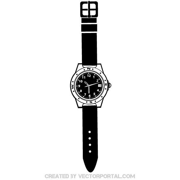 wrist watch illustration download free vector art free