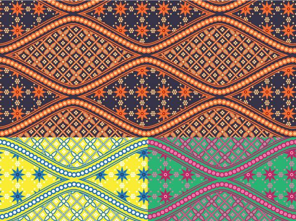 Batik Swatches Download Free Vector Art Free Vectors